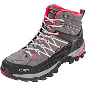 CMP Campagnolo Rigel Mid WP Trekking Shoes Women Grey-Red Fluo